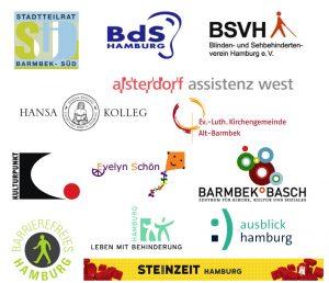 Arbeits-Gemeinschaft Barriere-freiheit in Barmbek-Süd Veranstalter Logos